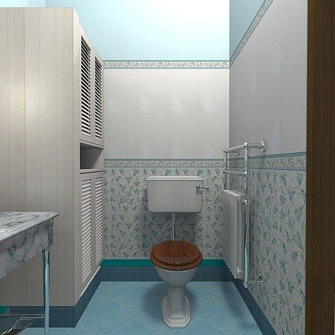 планировка туалета без ванной