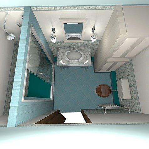 ванная комната с душем без поддона
