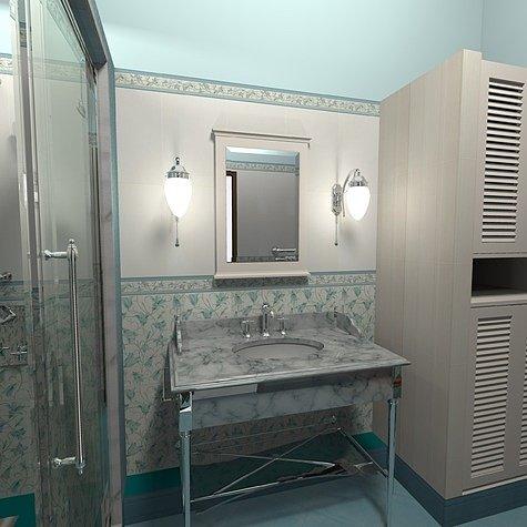 зеркало в ванную без полки
