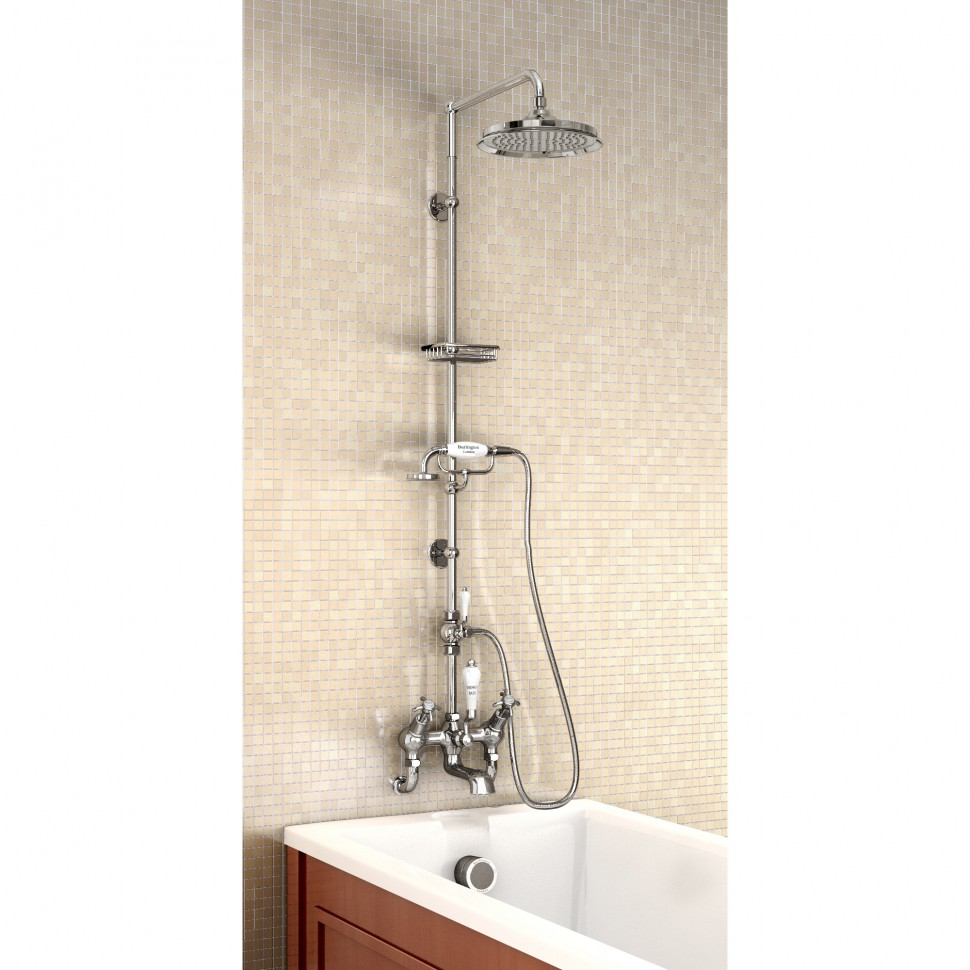 Подставка для ручного душа, устанавливаемая на вертикальную стойку, цвет Золото как скрыть сантехнику в ванной
